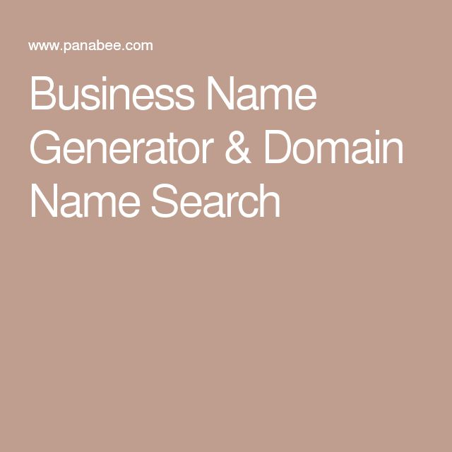 Business Name Generator Domain Search