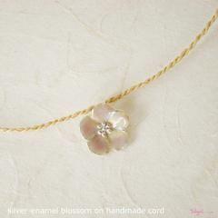 TalisgirlCharms-sterling silver-enamel-Large-Blossom-charm-on-handmade-cord-82-WEB