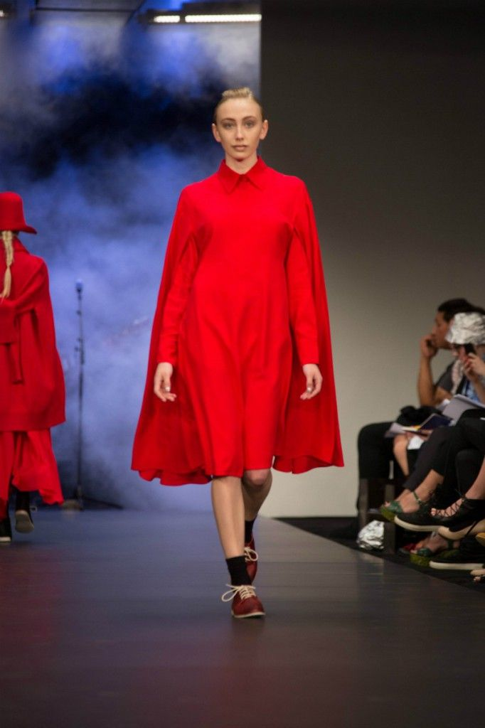 NYNE on the runway at New Zealand Fashion Week.