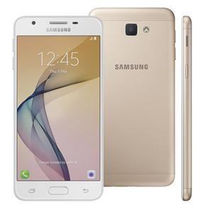 """Smartphone Samsung Galaxy J5 Prime Dourado, 32GB, Tela 5"""", Leitor Digital, Câmera Frontal com Flash a LED, 4G, Dual Chip"""