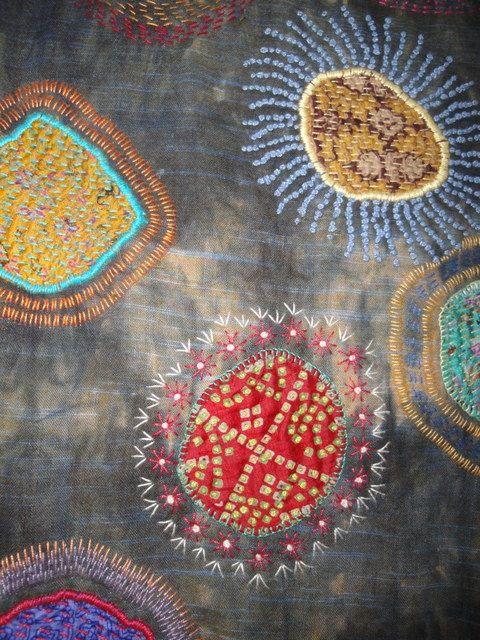 Circles Travelers Blanket. (Detail) Dijanne Cevaal.