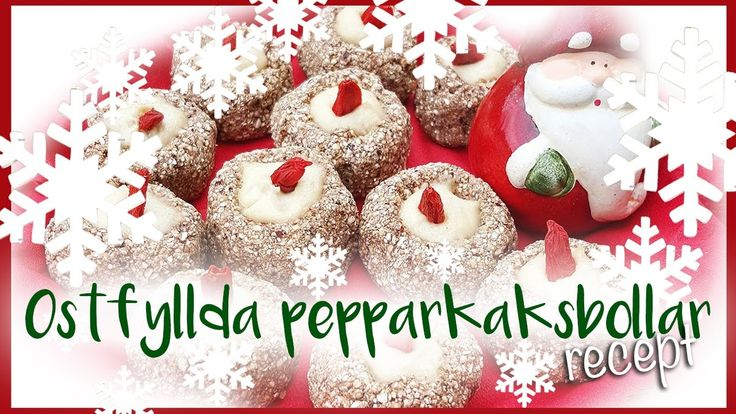 "JULBAK | Veganska ""ostfyllda"" pepparkaksbollar"