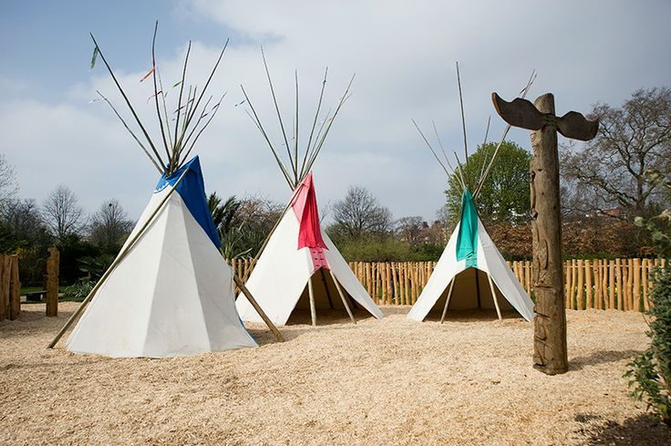 Teepees in the Princess Diana Memorial Playground