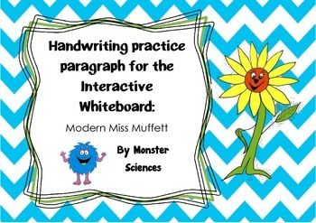 Handwriting practise paragraph for whiteboard - Modern Mis