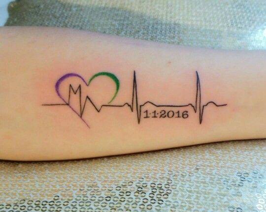 Ecg tattoo