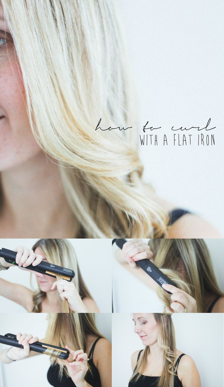 Hair Tutorial + Flat Iron Curls -- {I LOVE using a flat iron for curls. :) I may never use a curling iron again! It was much, much easier & quicker for me creating curls this way, than with a regular curling iron. & the curls held longer.}