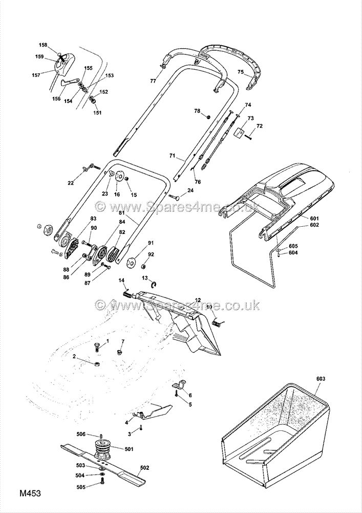 Mountfield 511PDHW Spares Parts Diagrams 511 PD HW 2008