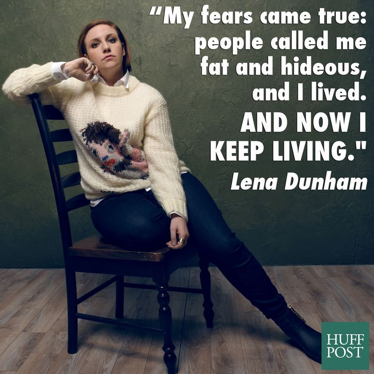 Lena Dunham stays positive about her body no matter what people say