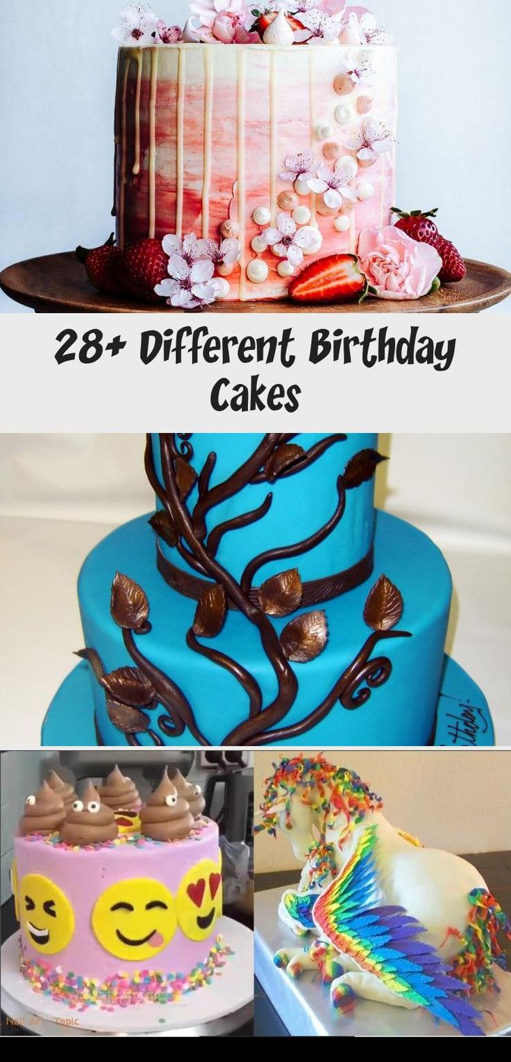 28+ Different Birthday Cakes in 2020 (With images) Types