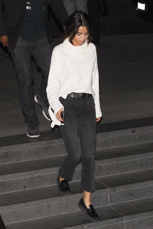Get Selena Gomez's Super Easy Black Denim Look