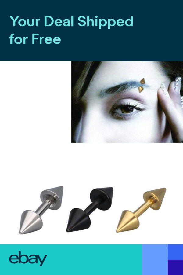Woman Man Stainless Steel Bar Cone Ear Tip Small Ear Studs Eyebrows Piercing