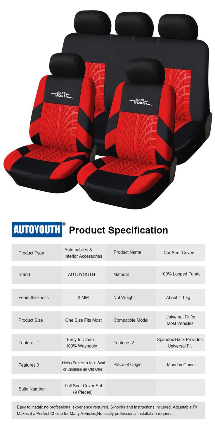 [Visit to Buy] AODELAI 2017 news Red Tire Track Detail Style Polyester Fabric Universal full Car Seat Covers Set Fits Most Car Seat Protector #Advertisement