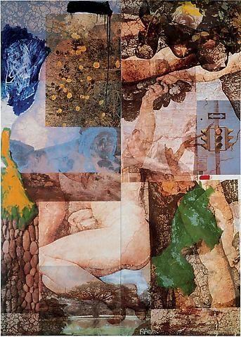 ROBERT RAUSCHENBERG   Index (Japanese Claywork), 1985   Transfer on high-fired Japanese art ceramic   89 1/4 x 63 5/8 inches (226.7 x 161.6 cm)