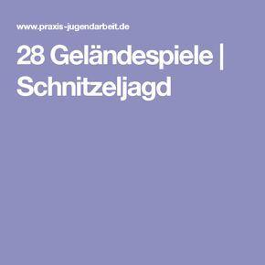 28 Geländespiele | Schnitzeljagd
