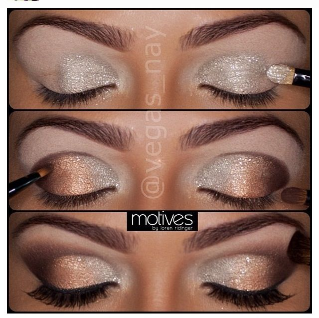 beautiful #makeup #gold #silver #eyebrows #brows #beautiful #love