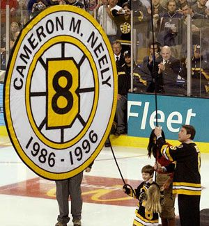 Cam Neely having his number 8 jersey retired | Boston Bruins | NHL | Hockey