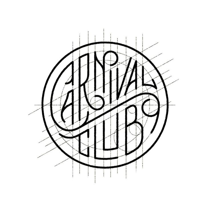 Carnival Club by Seth Lucas . Behind a logo . Construction grid . Geometric . Design .
