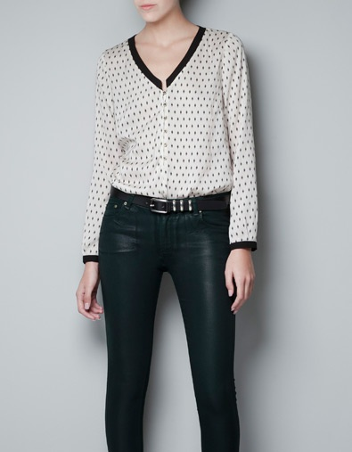 POLKA DOT PRINTED BLOUSE - Shirts - Woman - ZARA Taiwan
