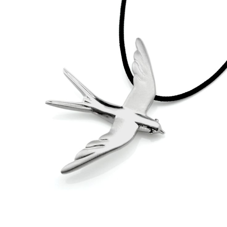 Swallow Jewelry - Silver Necklace #Swallow #Jewelry #Necklace #Bird #Spring #Charm #Gift Women