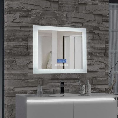 mtdvanities encore led illuminated bathroom wall mirror with builtin bluetooth audio speaker size