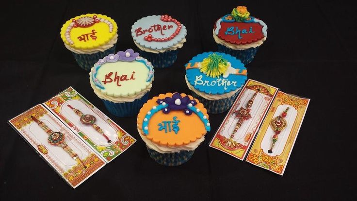 Rakhi eggless cupcakes