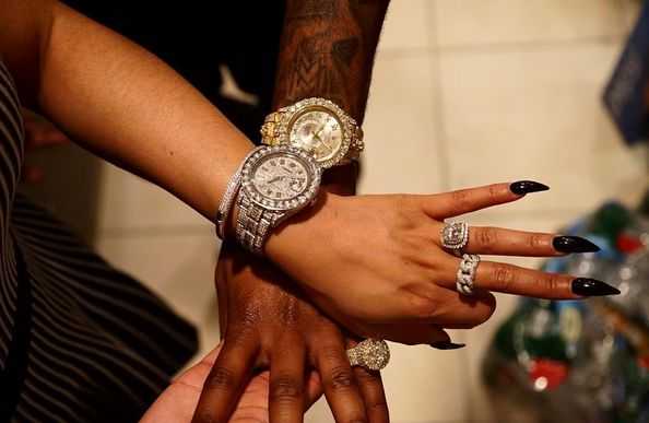 meek mill nicki minaj rolex