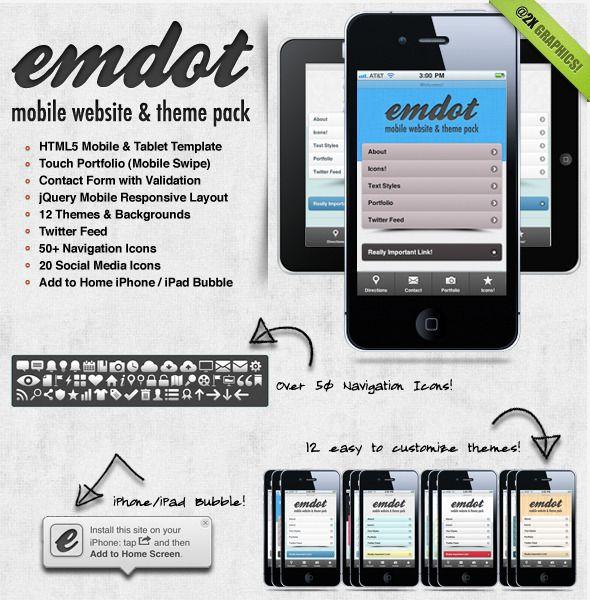 10+ Ideen Zu Mobile Website Template Auf Pinterest