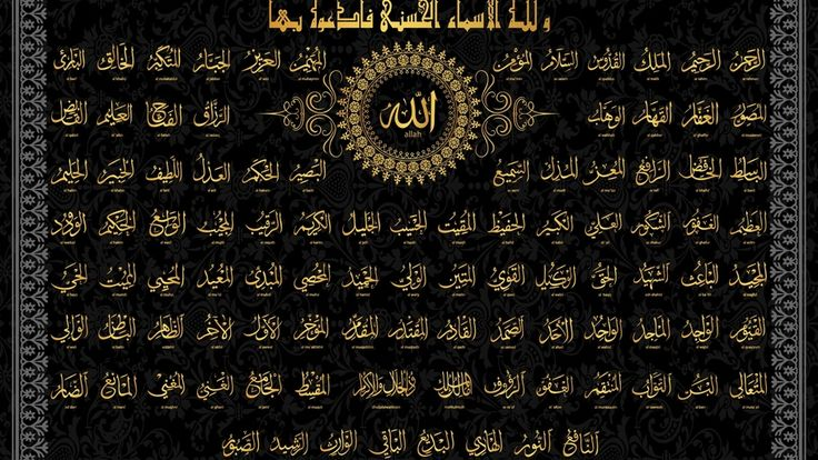 Art, Islam, Religion, Allah Names