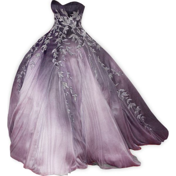 edited by Satinee - Dream gowns collection ❤ liked on Polyvore featuring dresses, gowns, long dresses, vestidos, purple gown, purple evening gowns, long purple dress and purple ball gowns