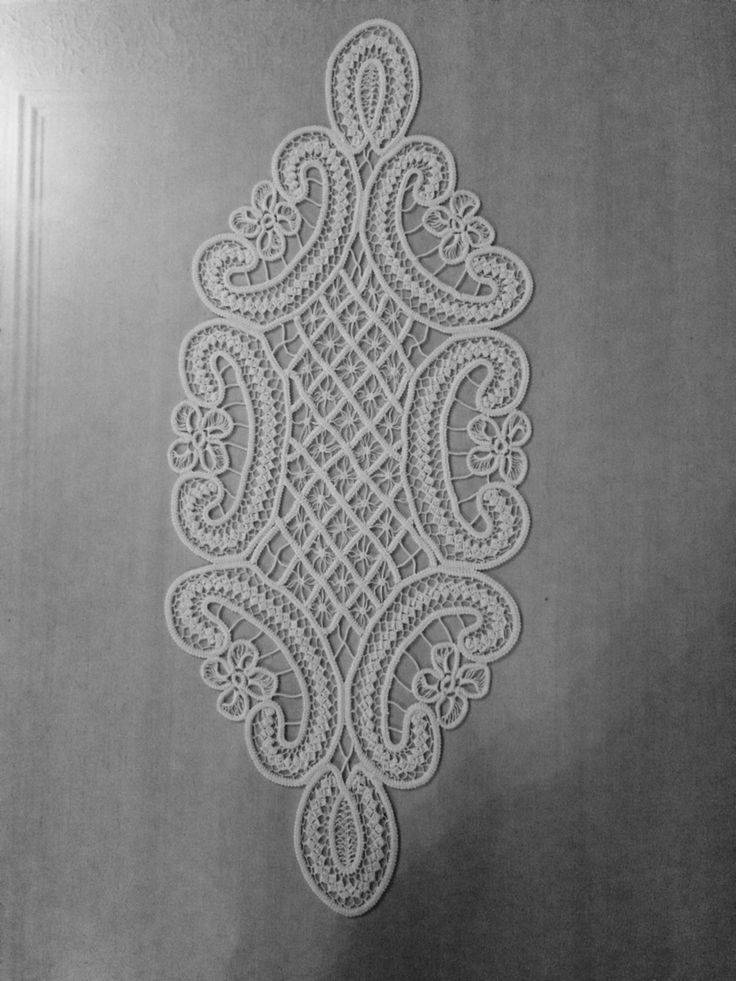needle point lace.