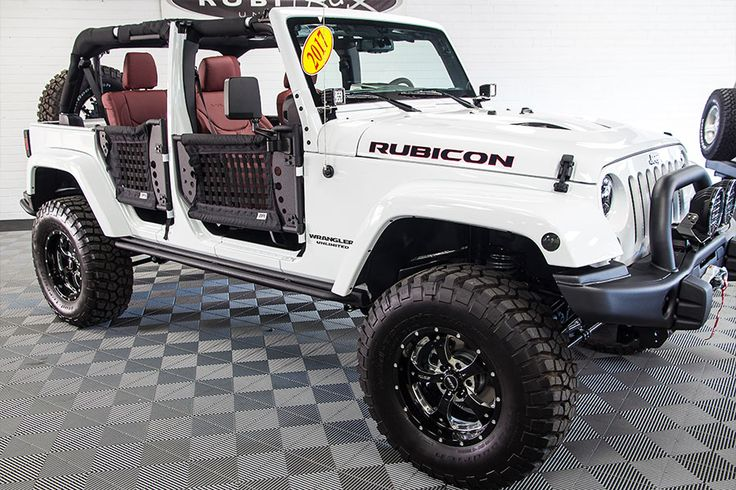 "Custom Alea Leather Interior Alpine X009-WRA Restyle Kit For Wrangler JK 3.5-inch AEV Dual Sport SC Lift AEV Premium Front Bumper AEV Rear Bumper and Tire Carrier 35x12.50x17 BFG KM2 Mud Terrain Tires Sota 17"" x 9"" Wheels"