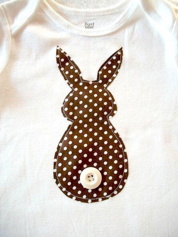 Jungen Ostern Strampelanzug-Bunny Butt Brown von bubbaandlulu