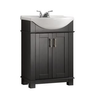 Create Photo Gallery For Website Fresca Hudson in W Traditional Bathroom Vanity in Black with Ceramic Vanity Top in White with White Basin