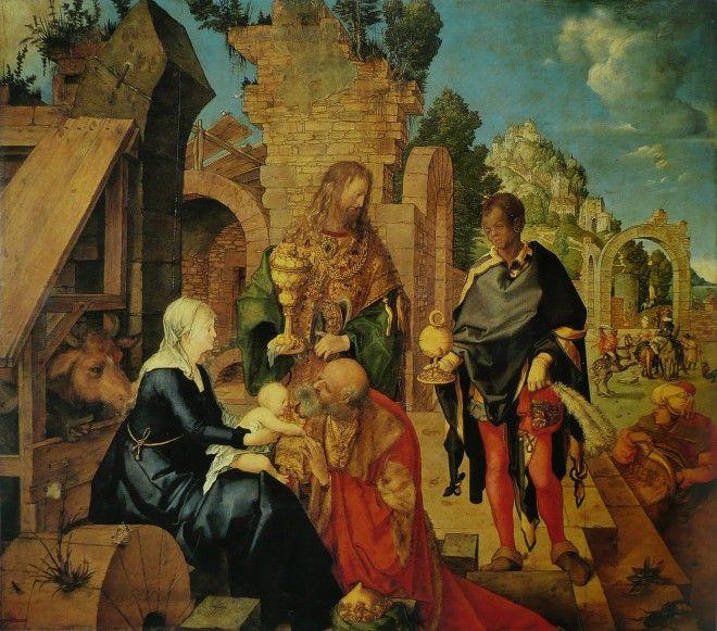 Albrecht_Dürer, Pokłon trzech króli_ olej na drewnie