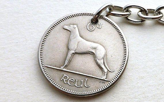 Irish charm Dog charm Irish wolfhound Purse charm 1968