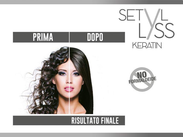 Prima e dopo Setyl Lyss: trattamento lisciante #capelli #capellilisci