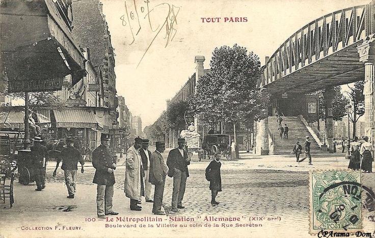 Métro Jaurès / Paris 19ème