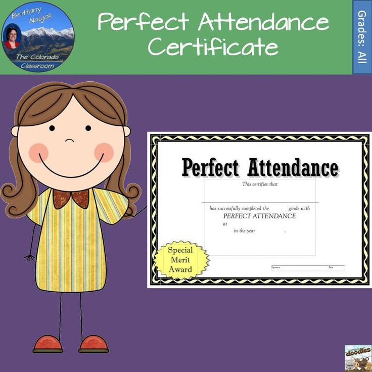 The 25+ Best Attendance Certificate Ideas On Pinterest