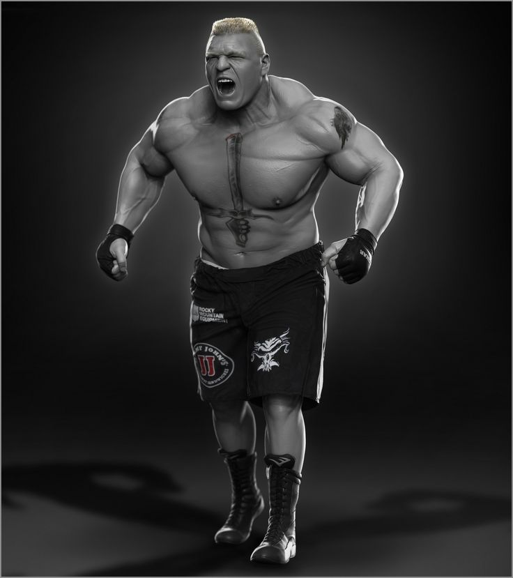 Here is Brock Lesnar sculpt I did for WWE. Hope you like it, cheers.