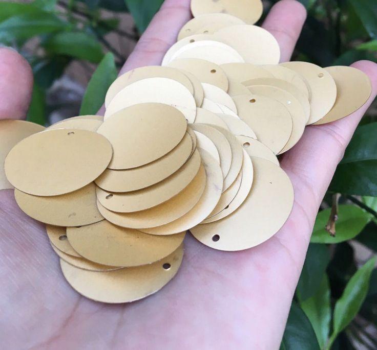Швейные принадлежности diy мэтт блестки 30 мм круговой боковое отверстие матовый светло-золотой пластине танец одежды материалы