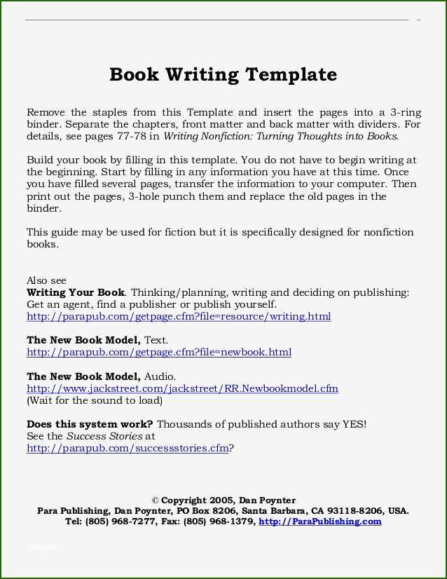 Perfect Template For Writing A Book For 2020 Book Writing Template Writing A Book Cookbook Template