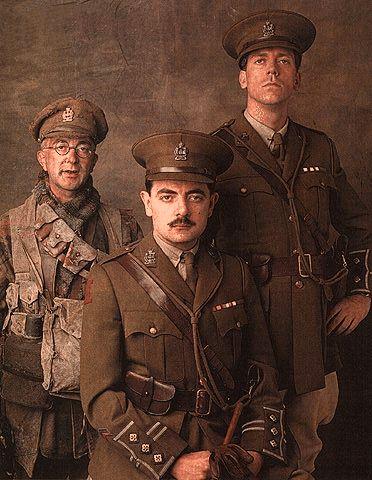 Blackadder: Tony Robinson, Rowan Atkinson and Hugh Laurie