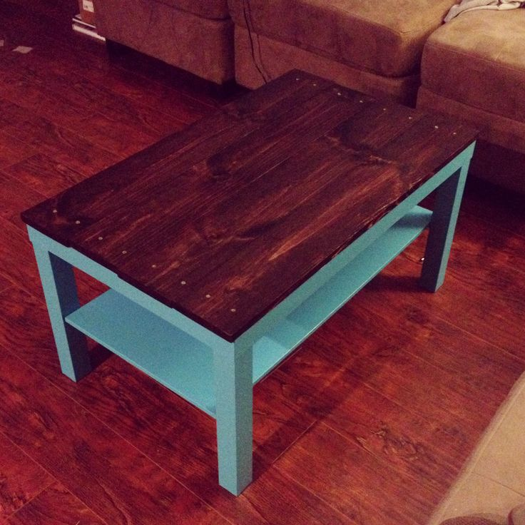 Diysunday ikea lack coffee table redo for the home for Redo table top ideas