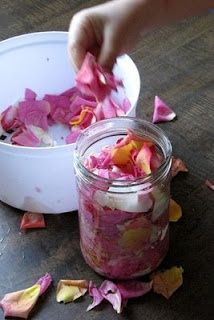 How To Make Rosewater At Home-- place in squirt bottle for yummy linen spray