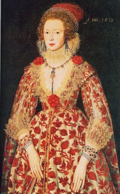 Portrait of an unknown lady, 1619, artist unknown.