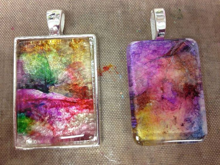 alcohol ink jewelry projects - Google Search