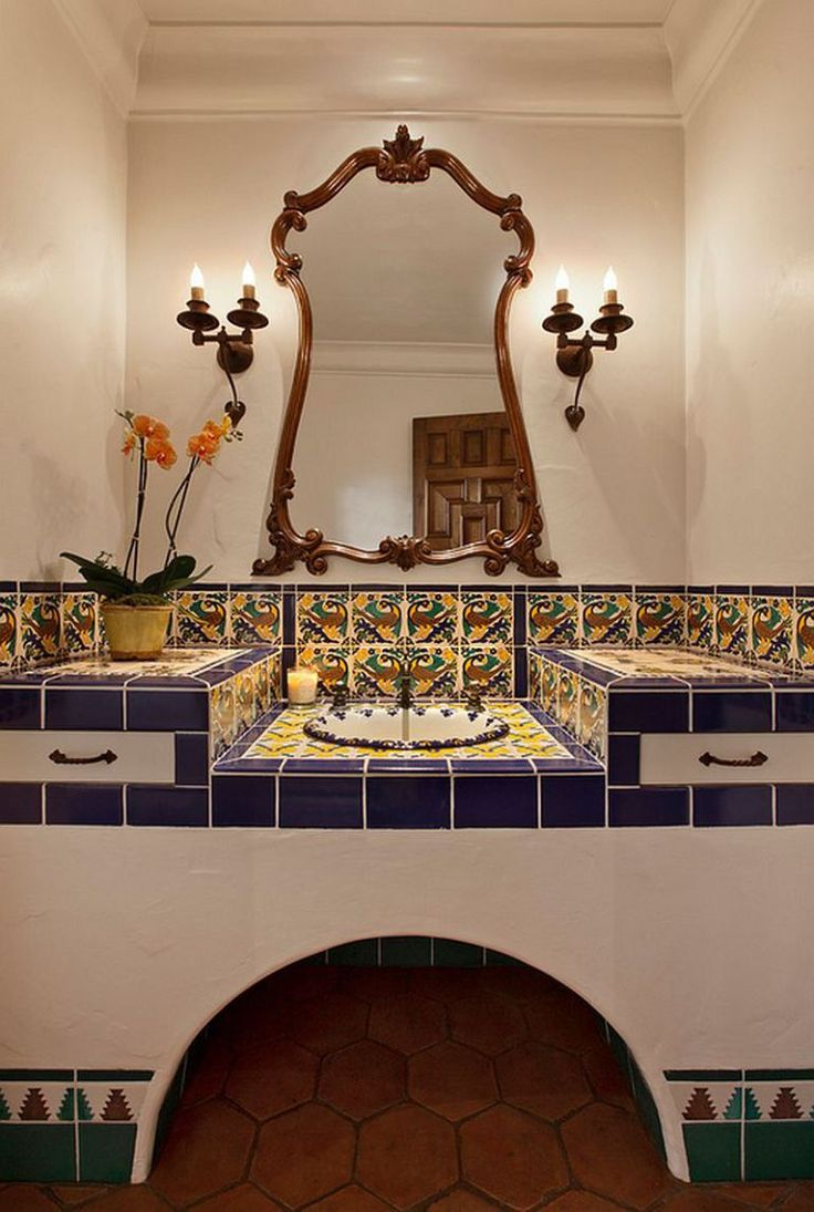 Happy Colorful Bathroom · DekoSpanisches Stil BadezimmerSpanisches ...
