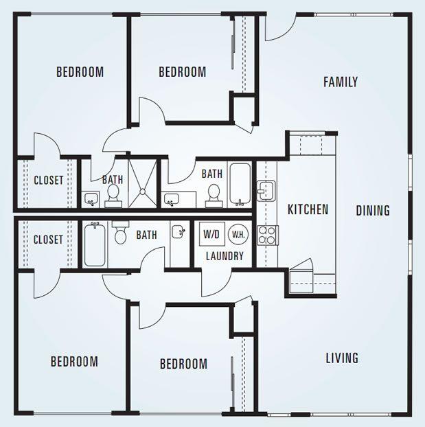 17 best images about apartment floor plans on pinterest for Apartment unit plans
