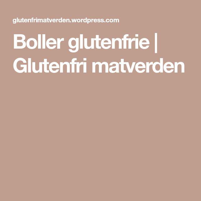 Boller glutenfrie | Glutenfri matverden