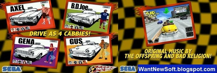 Crazy Taxi Game Free Download For iOS & Android http://www.wantnewsoft.blogspot.in/2014/03/crazy-taxi-game-free-download-for-ios.html #wantnewsoft